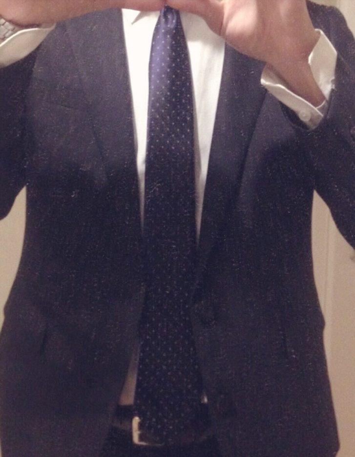 ネクタイは細いほうがお洒落