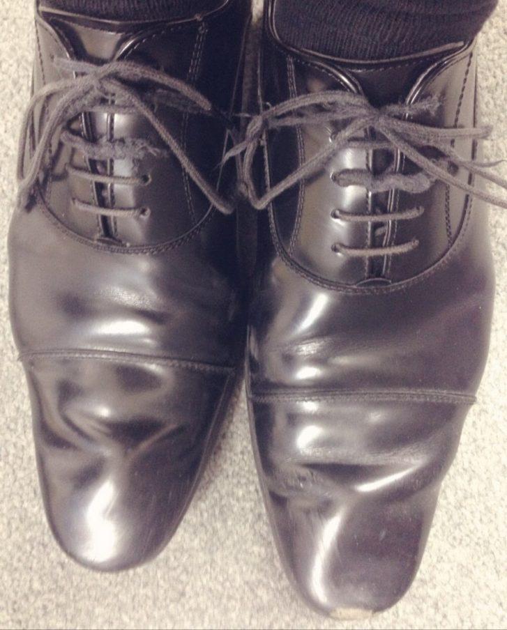 100均の靴紐に変える前