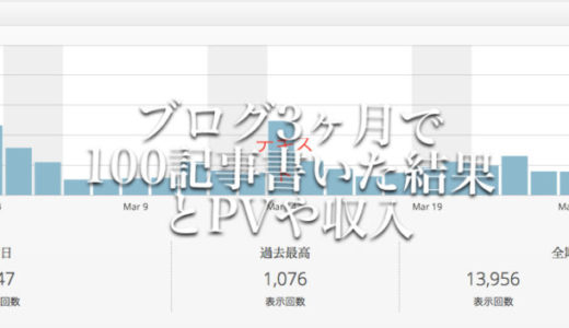 ブログ3ヶ月で100記事書いたらPVと収入はこうなりました