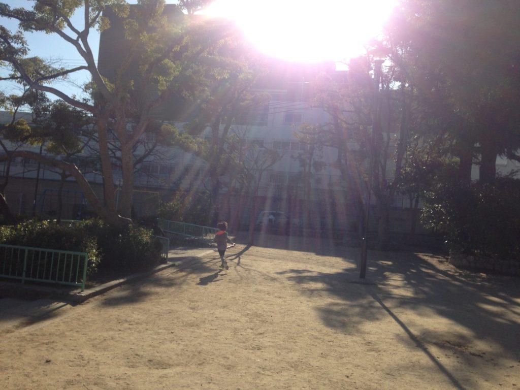 長子公園では球技も可能