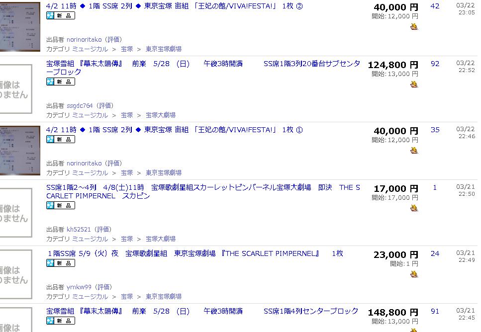 宝塚大劇場SS席の価格