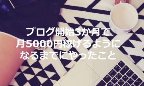 ブログ月5000円稼ぐまでにやった具体的な内容