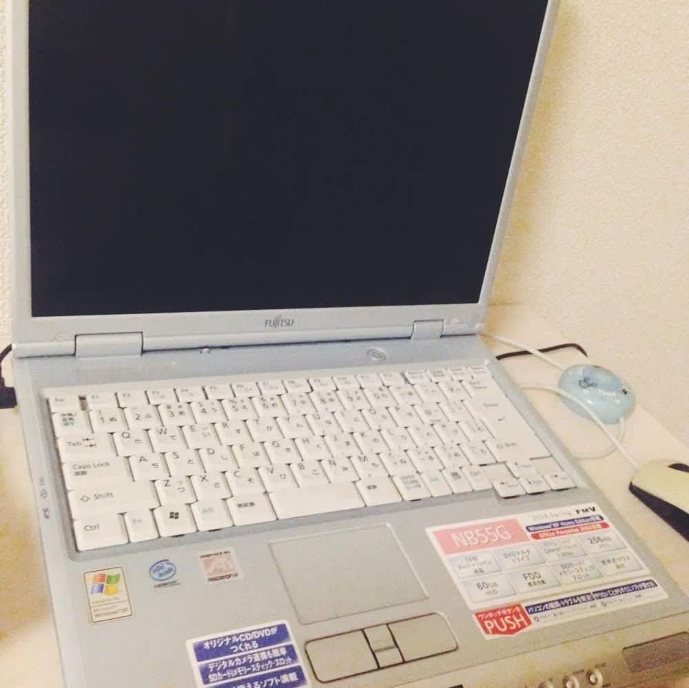 富士通FMVのXPのパソコンNB55Gの初期化の方法