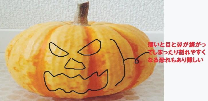 作りやすい形のかぼちゃを選ぶ