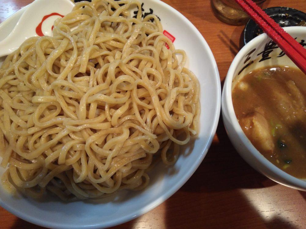 三富麺残り半分