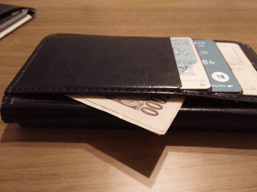 手帳型スマホケースが財布